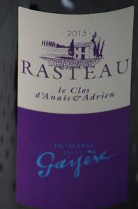 etiquette_rasteau_gayere