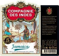 Rhum - Compagnie des Indes – Jamaïque – 5 ans